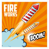 Firework celebration explosion night icon.  Vector graphic Stock Photo