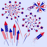 Firework 10. Firework for celebration independence Day Royalty Free Stock Photography