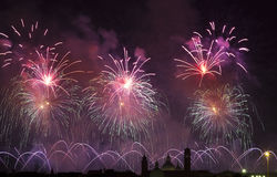Firework celebration Redentore (Venice, Italy) Stock Image