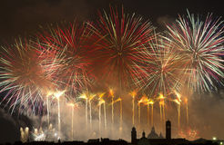 Firework celebration Redentore (Venice, Italy) Royalty Free Stock Image