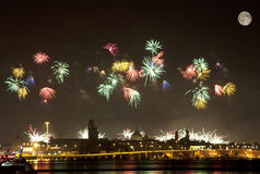 Firework celebration Redentore (Venice, Italy) Stock Photos