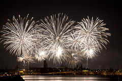 Firework celebration Redentore (Venice, Italy) Royalty Free Stock Images