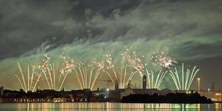 Firework celebration Redentore (Venice, Italy) Stock Image