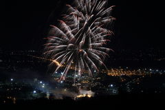 Firework at Chiangmai city Royalty Free Stock Photo