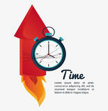 Firework and chronometer design. Firework and chronometer icon. Time instrument and tool theme. Colorful design. Vector illustration Royalty Free Stock Photos