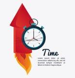 Firework and chronometer design Royalty Free Stock Photos