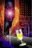 Firework in the city stock illustration