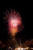 Firework in a city Royalty Free Stock Photo