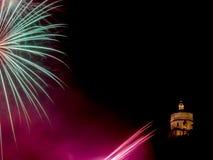 Firework at city holiday celebration Royalty Free Stock Photography