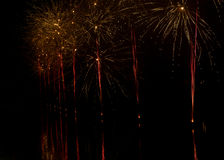 Firework at city holiday celebration Royalty Free Stock Images