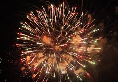 Firework close up view royalty free stock image