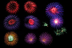 Firework collection. Royalty Free Stock Photography