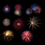 Firework collection Royalty Free Stock Image