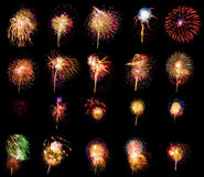 Firework collection Royalty Free Stock Images