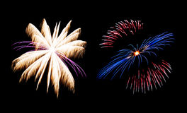 Firework collection and Set of colorful fireworks light on the b Royalty Free Stock Photography
