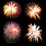 Firework collection and Set of colorful fireworks light on the b Royalty Free Stock Images