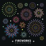 Firework collections design background Royalty Free Stock Image