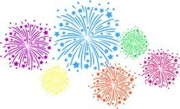 Firework color. Colorful firework on black background Stock Image