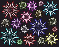 Firework. Color firework on a background Royalty Free Stock Images