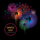Firework Color Background Royalty Free Stock Photography