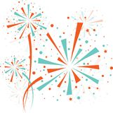 Firework color. Big color fireworks on white background. eps10 Royalty Free Stock Photos