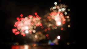 Firework colorful bokeh stock footage