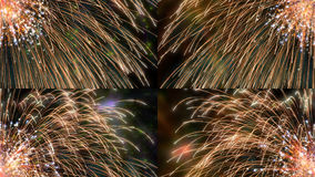 Firework colorful details. Explode firework with colorful sparks details Royalty Free Stock Photos