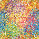 Firework colorful full seamless pattern Royalty Free Stock Images