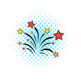 Firework comics icon Stock Images