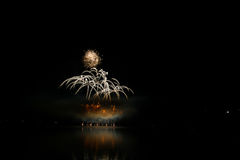 Firework Competition at sea, Brno, Czech Republic Royalty Free Stock Photo