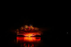 Firework Competition at sea, Brno, Czech Republic Royalty Free Stock Photography