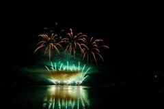 Firework Competition at sea, Brno, Czech Republic Stock Photos
