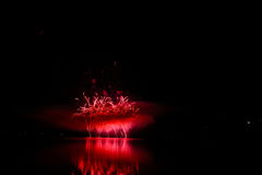 Firework Competition at sea, Brno, Czech Republic Stock Photography