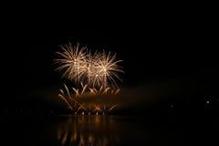 Firework Competition at sea, Brno, Czech Republic Stock Photo