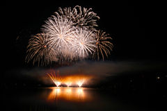 Firework Competition at sea, Brno, Czech Republic Stock Images