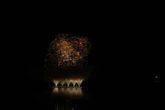 Firework Competition at sea, Brno, Czech Republic Royalty Free Stock Image