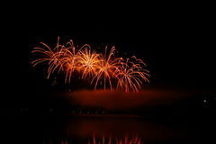 Firework Competition at sea, Brno, Czech Republic Stock Image