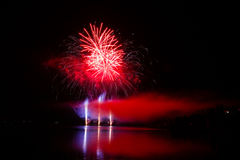 Firework Competition at sea, Brno, Czech Republic Royalty Free Stock Photos