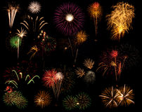 Firework composite Royalty Free Stock Images