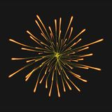 Firework concept background, realistic style. Firework concept background. Realistic illustration of firework vector concept background for web design Stock Image