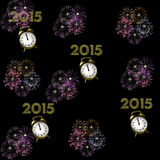Firework. 3D Fireworks in different colors Stock Photography