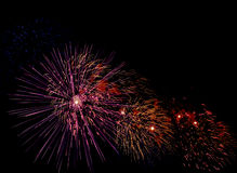 Firework dark sky Royalty Free Stock Photos