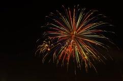 Firework on dark sky to celebration. Royalty Free Stock Photography