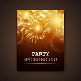 Firework Design Template Stock Photos