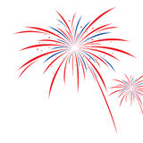 Firework design. On white background Stock Photos