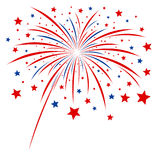 Firework design. On white background Royalty Free Stock Image