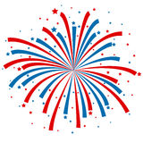 Firework design on white background Royalty Free Stock Photography