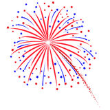 Firework design on white background Stock Photos