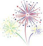 Firework design on white background. Vector illustration Stock Photo