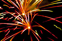 Firework in detail at night celebration background Royalty Free Stock Images